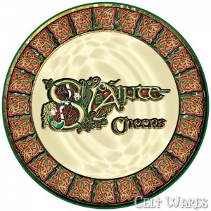 Celtic Coasters 4pk Slainte
