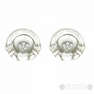 Claddagh Post Sterling Silver Earrings