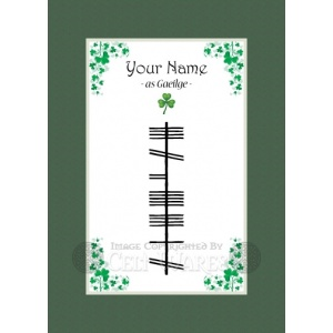 A Custom Spelling for a Last Name - Ogham First Name