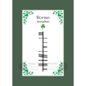 Dorian - Ogham First Name