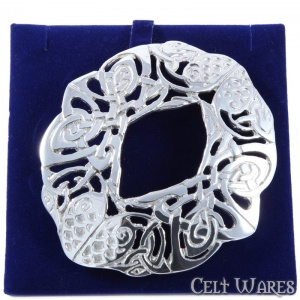 Large Celtic Bird Scarf Brooch