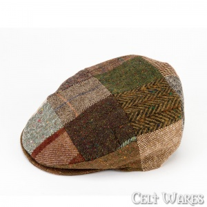 Brown Tweed Patch Cap