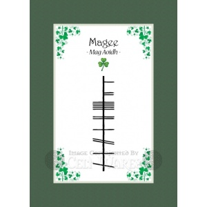 Magee - Ogham Last Name