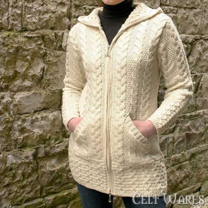 Merino Hooded Jacket with Pockets (Natural)