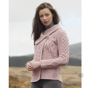 One Button Cardigan - Pink