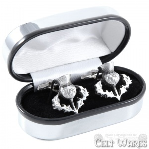 Cufflinks - Openwork Thistle Gloss