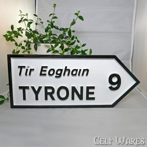Tyrone Road Sign